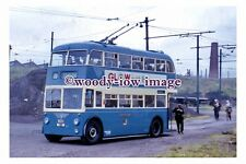 gw0173 - Bradford Trolleybus no 801 on Training Route in 1964 - photograph