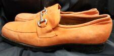 Orange suede slip on size 11 M Giorgio Brutini