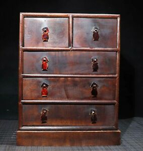 """12.6"""" China Wood cabinet natural Rosewood cupboard drawer"""