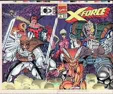 X-FORCE #1 ROB LIEFELD ART ORIGINAL PRODUCTION COVER PROOF 1st 1991 CABLE X-MEN