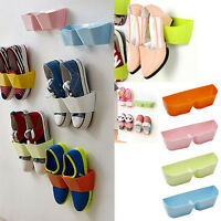 Home Door Shoe Organizer Rack Wall Mounted Hanging Closet Storage Stand Holder