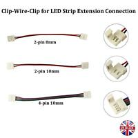 3528/5050 RGB LED STRIP CLIP ADAPTER CABLE PCB LIGHT WIRE CONNECTOR 8/10MM