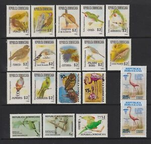 Dominican Republic - Small Collection of 19 Bird stamps - MNH