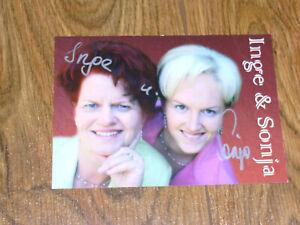 Autogrammkarte, - Musik, - Inge & Sonja