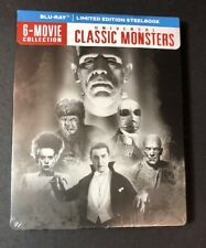 Universal Classic Monsters 6-Movie Collection [ STEELBOOK Pack ] (Blu-ray) NEW