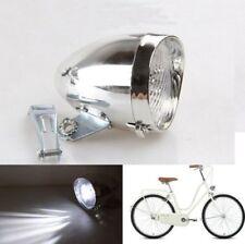 Chrome 3 LED Bicycle Bike Visor Bullet Headlamp Headlight Front / Tail Light