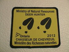 2012 ONTARIO CANADA MINISTRY NATURAL RESOURCES SUCCESSFUL DEER HUNTER GUN PATCH
