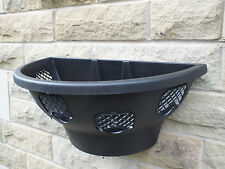 2 x Black Plantopia wall basket easy fill pansy display decorative hanging