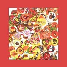 100 Precut assorted THANKSGIVING BOTTLE CAP IMAGES Variety Mix 1 inch discs