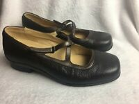 Aravon Womens Size 8.5 D Flats loafers Pumps mary jane Brown Leather Wide Shoes