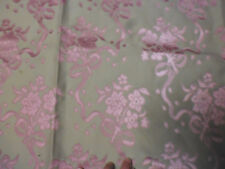 tissu french textile ameublement damas rose bouquet Louis 16 style 18e 128x42 B1