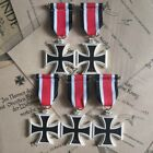 5PCS/lot WW2 WWII Germany 1939 2nd Class Iron Cross Medal Badge with Ribbon repr
