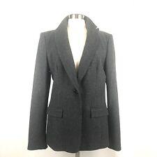 New Banana Republic Gray Tweed Wool Blazer Jacket Women Tall 14T