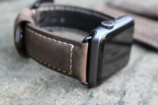 Brown Replacement Leather Watch Straps Bands for Apple Watch Series 1 & 2 42mm
