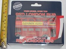 Original Die Cast Free Wheel Open Top Red London Bus Souvenir