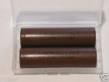 4 LG INR 18650 HG2 HIGH DRAIN 20A  Battery 3000mAh BROWN F.T w/ cases