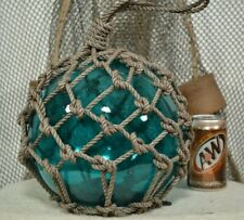 Vintage Glass Fishing Float In Aqua