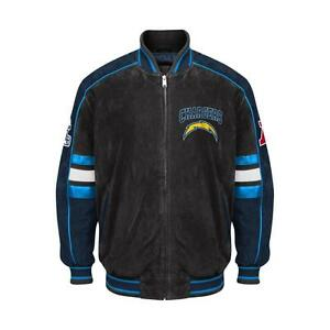 Officially Licensed NFL San Diego Chargers Varsity Suede Leather Team Jacket XXL