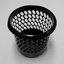 Whitefurze H10116 Black Plastic Waste Paper Basket Bin Home or Office Easy Clean