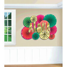 HAWAIIAN LUAU Aloha DELUXE FAN KIT (17pc) ~ Birthday Party Supplies Decoration