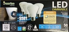 Sunrise BR20 LED Dimmable Light Bulb, 8 Bulbs(2 Boxes) Soft White, Last 27 Years