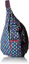 KAVU Womens Rope Bag POPSICLE PARTY Backpack 923-831 Sling Travel Navy Blue  NWT