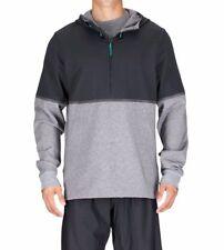 SAUCONY Mens XL TRACK STAR HOODIE Black/Grey 1/4 zip Top Running Pullover $159
