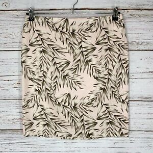 Ann Taylor Pencil Skirt Sz 10 PETITE Multicolor Leaf Print Lined New With Tag