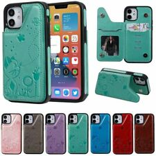 10pcs/lot Cat Bee Shatter-Resistant Leather Back Case for iPhone 12 Pro Samsung