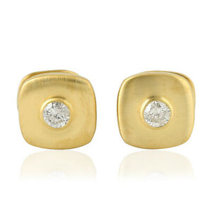 Mother's Day Sale 0.57ct Natural Diamond Cufflinks 10k Yellow Gold Jewelry