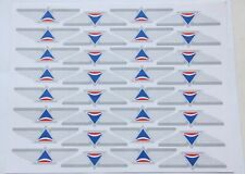 DELTA AIRLINES JUNIOR KIDDIE WINGS BADGES PINS STICKERS (FULL SHEET)