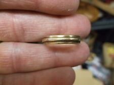 """VERY RARE VTG ANTIQUE 14K YELLOW GOLD WEDDING BAND, WITH RAISED CENTRAL """"LINE"""""""