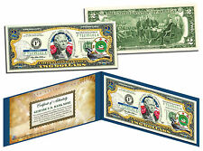 PUERTO RICO Statehood $2 Two-Dollar Colorized U.S. Bill - Genuine Legal Tender