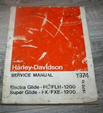 New ListingHarley Davidson Electra Glide Super Glide Service Manual 1970-1974