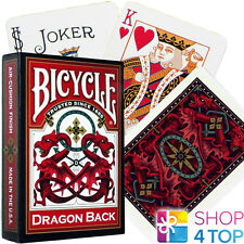 BICYCLE DRAGON BACK PLAYING CARDS DECK ORIENTAL DESIGN RED MADE IN USA NEW