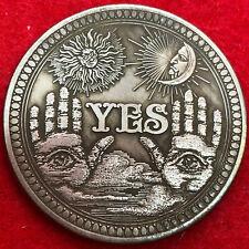 Very Large Tibetan Silver Spiritual moon and sun god morgan dollar