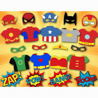DC Batman Super Heros Birthday Party Photo Booth Props Supply Funny Game Kids