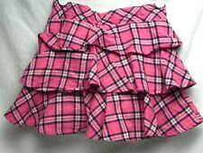 Gymboree Girls Pink Ruffled Skirt w/Plaid design Sz(4) 70530