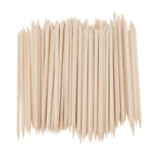 100 PCS Orange Wood Sticks Nail Art Cuticle Stick for Manicure Nail Tool Kit