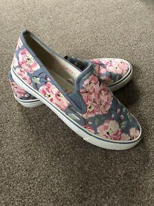 Cath Kidston Floral Canvas Deck Shoe Size 39 (6)