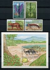 BARBUDA 1990 Tiere Animals Fledermaus Robbe Manati 1181-1192 + Block 156