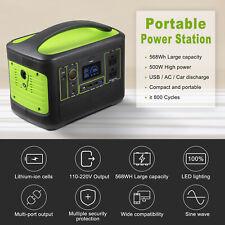 568Wh Solar Portable Power Station 500W Portable Generator Emergency PowerSupply