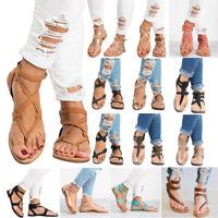 Roman Womens Flat Flip Flops Sandals Summer Strap Open Toe Thong Shoes New Size