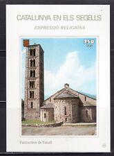CATALUÑA EN SELLOS HOJA BLOQUE Nº 83 EXPRESIÓN RELIGIOSA/PANTOCRÀTOR DE TAHULL