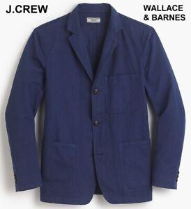 J.CREW Wallace & Barnes 36R cotton chore blazer 36 cobalt navy blue jacket s NWT