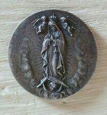 Medaglia religiosa Beata Vergine di Guadalupe in argento Anno 1945