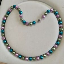8mm multicolor Akoya Shell Pearl necklace AAA 18 inches  Y05