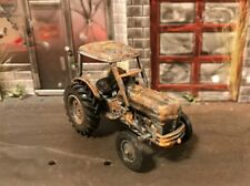 1949 Ford 8N Rusty Weathered Custom 1/64 Diecast Farm Tractor Barn Find Dirty