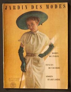 'LE JARDIN DES MODES' FRENCH VINTAGE MAGAZINE HOLIDAY ISSUE JUNE 1950