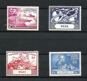 Fiji 1949 KGVI Universal Postal Union UPU complete set of 4 MNH stamps